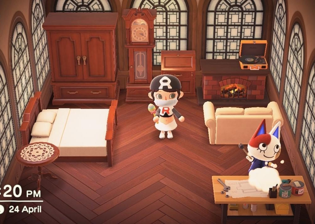 Interior of Purrl's house in Animal Crossing: New Horizons