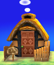 Exterior of Tabby's house in Animal Crossing: New Leaf