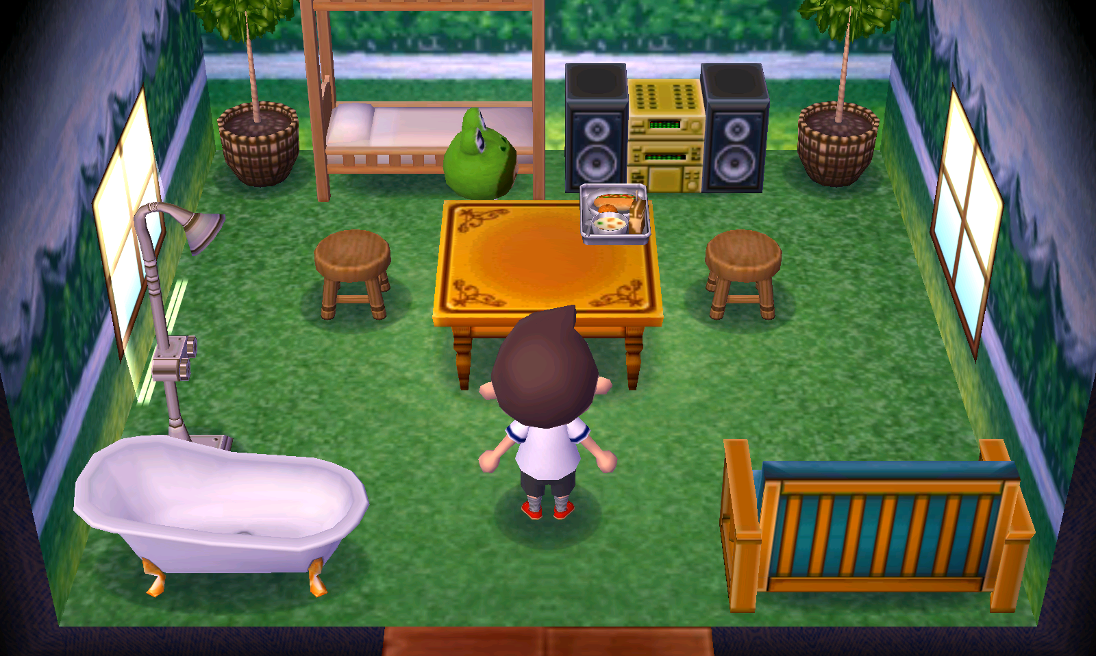 Interior of Prince's house in Animal Crossing: New Leaf