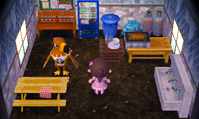 Interior of Buzz's house in Animal Crossing: New Leaf