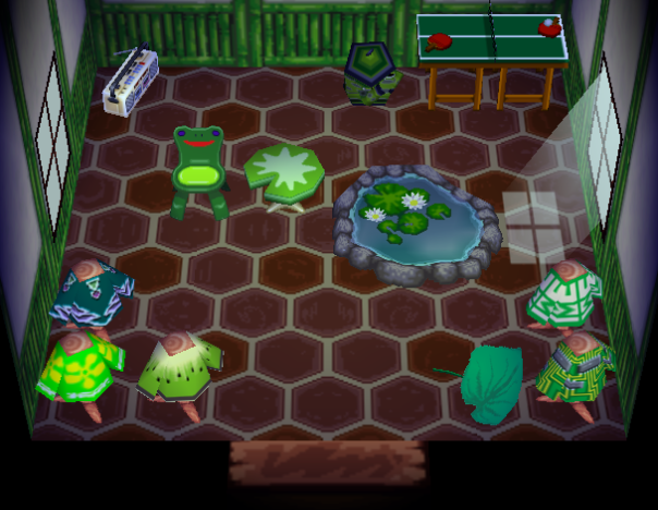 Interior of Jeremiah's house in Animal Crossing