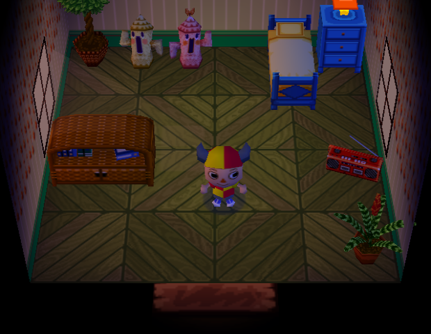 Interior of Mitzi's house in Animal Crossing