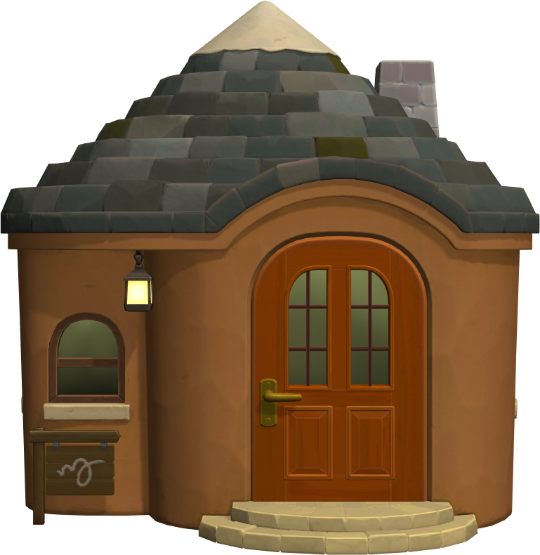 Exterior of Weber's house in Animal Crossing: New Horizons