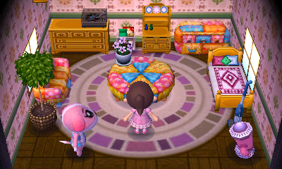 Interior of Cookie's house in Animal Crossing: New Leaf