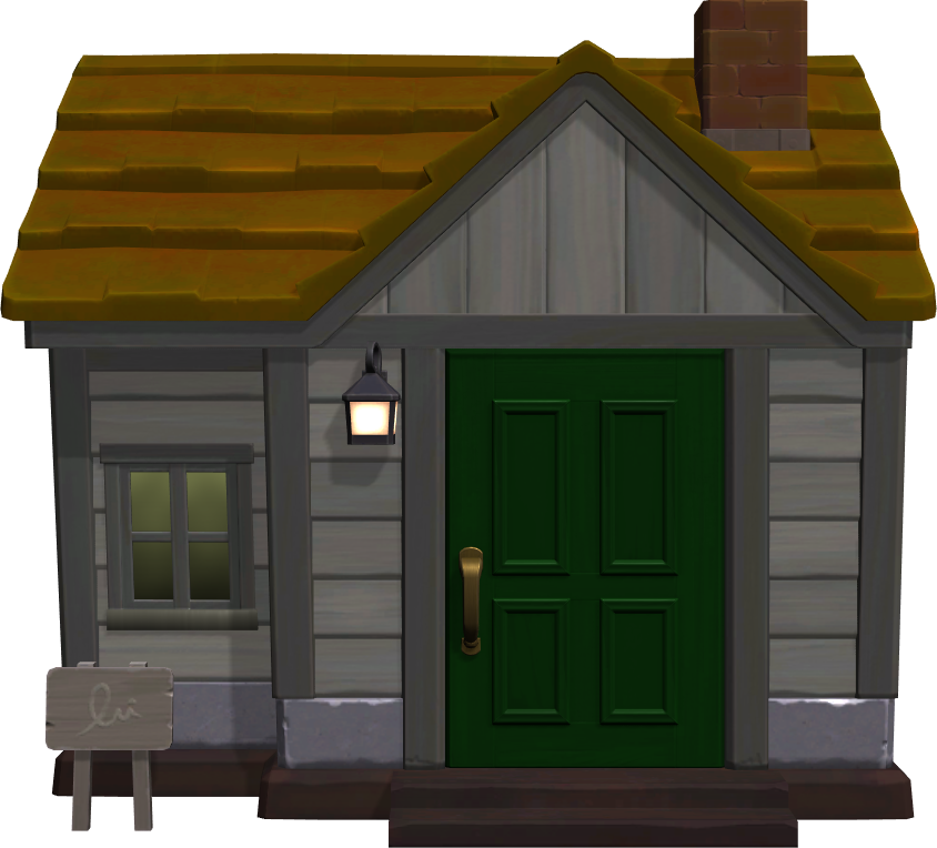 Exterior of Cashmere's house in Animal Crossing: New Horizons