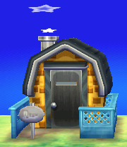 Exterior of Eugene's house in Animal Crossing: New Leaf