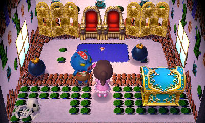Interior of Ganon's house in Animal Crossing: New Leaf