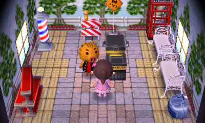 Interior of Kevin's house in Animal Crossing: New Leaf