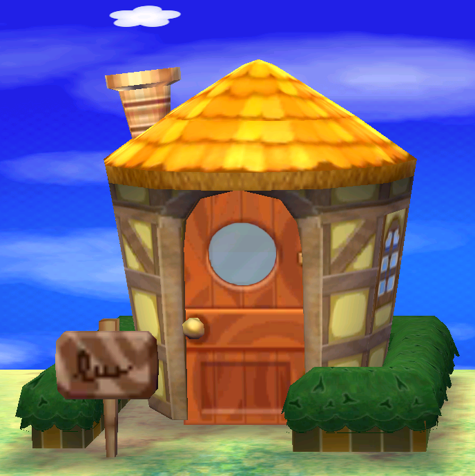 Exterior of Sheldon's house in Animal Crossing: New Leaf