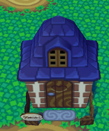 Exterior of Cashmere's house in Animal Crossing