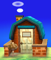 Exterior of Cashmere's house in Animal Crossing: New Leaf