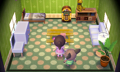 Interior of Melba's house in Animal Crossing: New Leaf