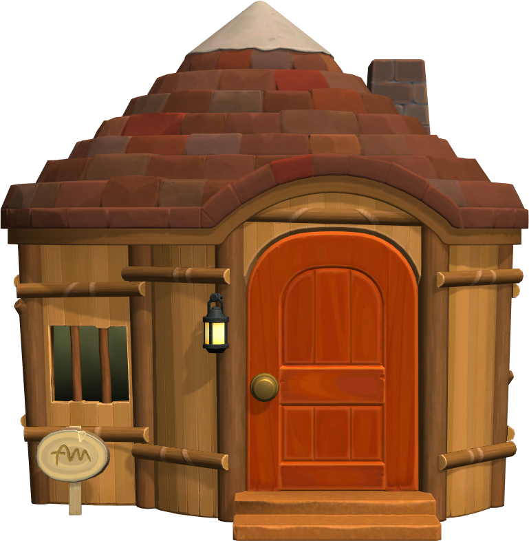 Exterior of O'Hare's house in Animal Crossing: New Horizons