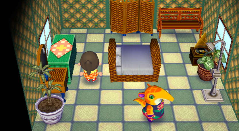 Interior of Anabelle's house in Animal Crossing: City Folk