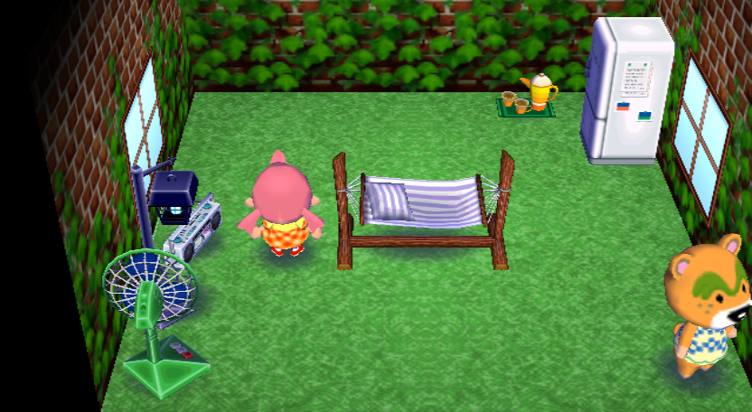 Interior of Nate's house in Animal Crossing: City Folk