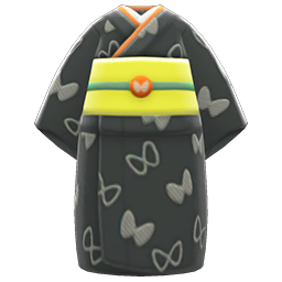Butterfly Visiting Kimono