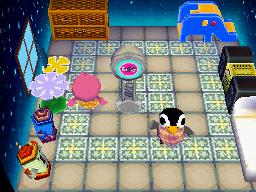 Interior of Aurora's house in Animal Crossing: Wild World