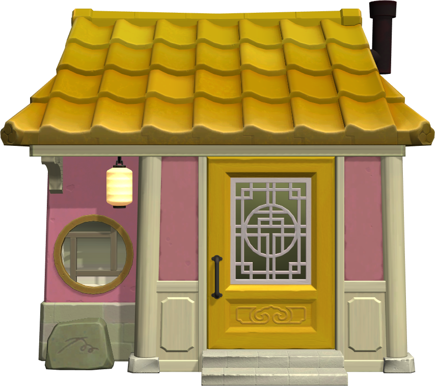 Exterior of Pinky's house in Animal Crossing: New Horizons