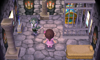Interior of W. Link's house in Animal Crossing: New Leaf