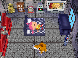 Interior of Chief's house in Animal Crossing: Wild World