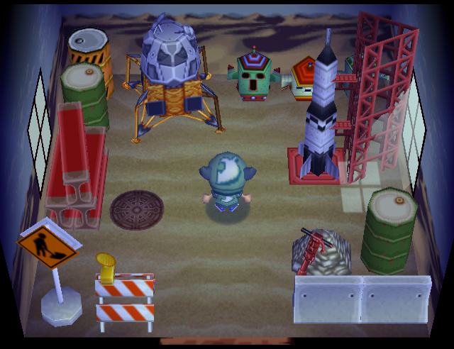 Interior of Sandy's house in Animal Crossing