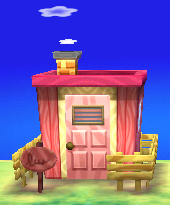 Exterior of Nana's house in Animal Crossing: New Leaf