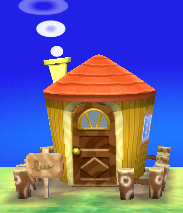 Exterior of Beau's house in Animal Crossing: New Leaf