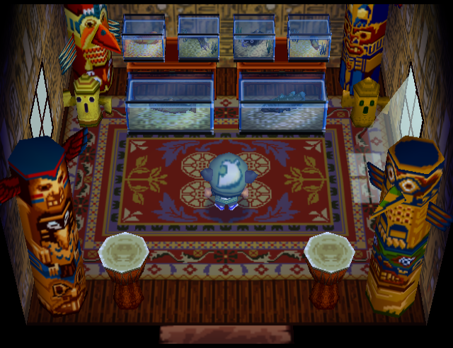 Interior of Kody's house in Animal Crossing