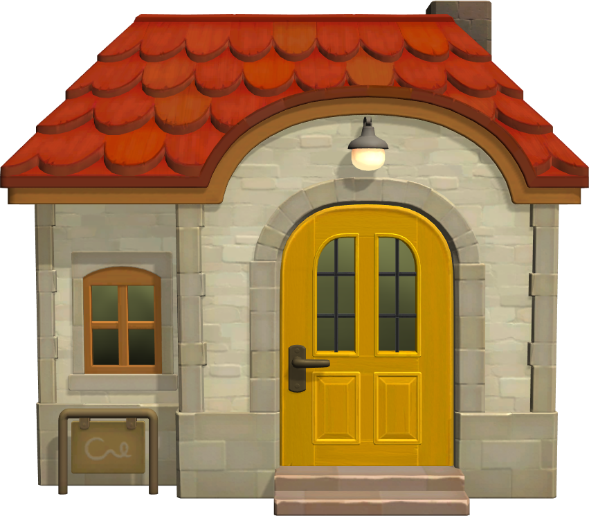 Exterior of Benedict's house in Animal Crossing: New Horizons