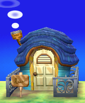 Exterior of Bluebear's house in Animal Crossing: New Leaf