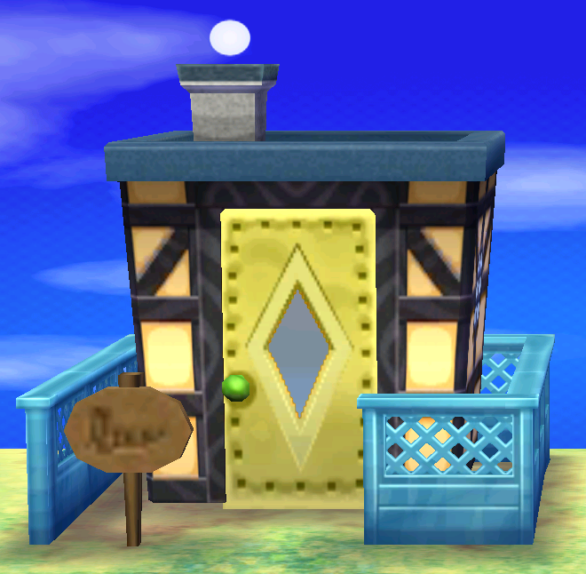Exterior of Moe's house in Animal Crossing: New Leaf