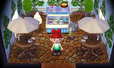 Interior of Olive's house in Animal Crossing: New Leaf