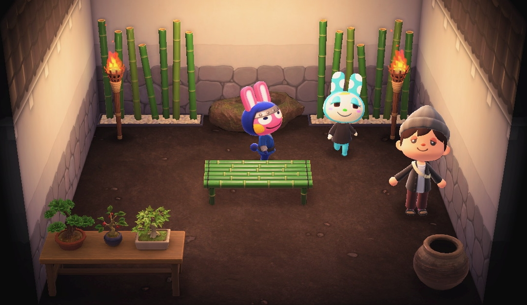 Interior of Snake's house in Animal Crossing: New Horizons