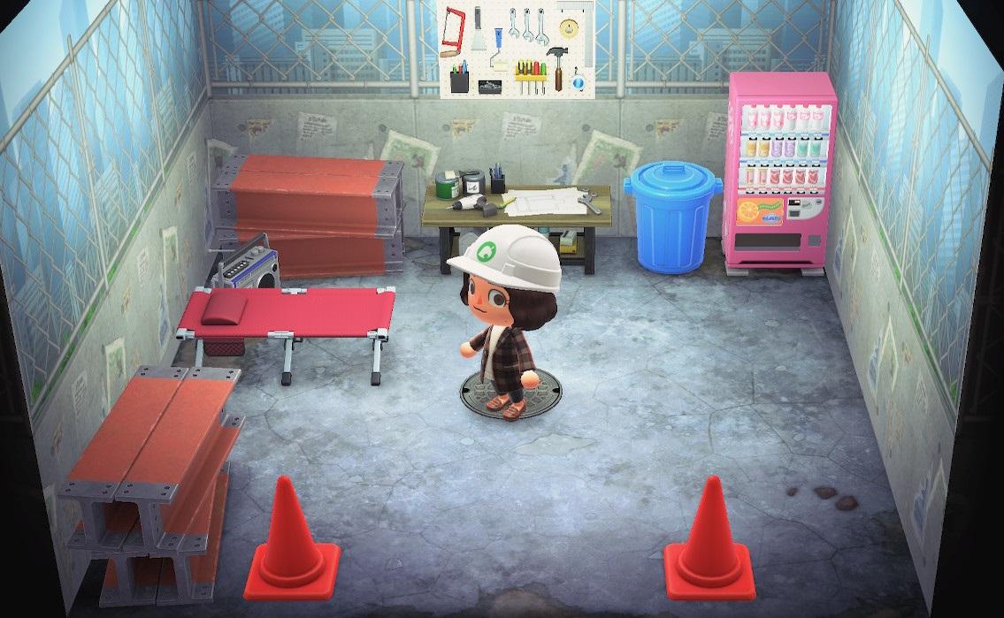 Interior of Vladimir's house in Animal Crossing: New Horizons