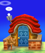 Exterior of Caroline's house in Animal Crossing: New Leaf
