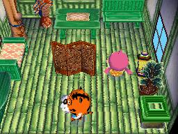 Interior of Rowan's house in Animal Crossing: Wild World