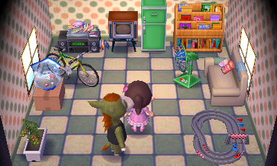 Interior of Buck's house in Animal Crossing: New Leaf