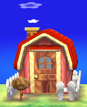 Exterior of Merengue's house in Animal Crossing: New Leaf
