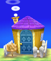 Exterior of Anabelle's house in Animal Crossing: New Leaf