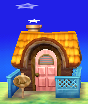 Exterior of Bonbon's house in Animal Crossing: New Leaf