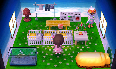 Interior of Cranston's house in Animal Crossing: New Leaf