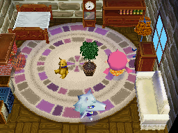 Interior of Whitney's house in Animal Crossing: Wild World