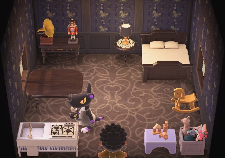 Interior of Mathilda's house in Animal Crossing: New Horizons