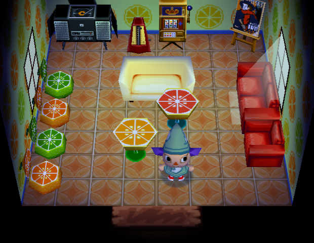 Interior of Blaire's house in Animal Crossing