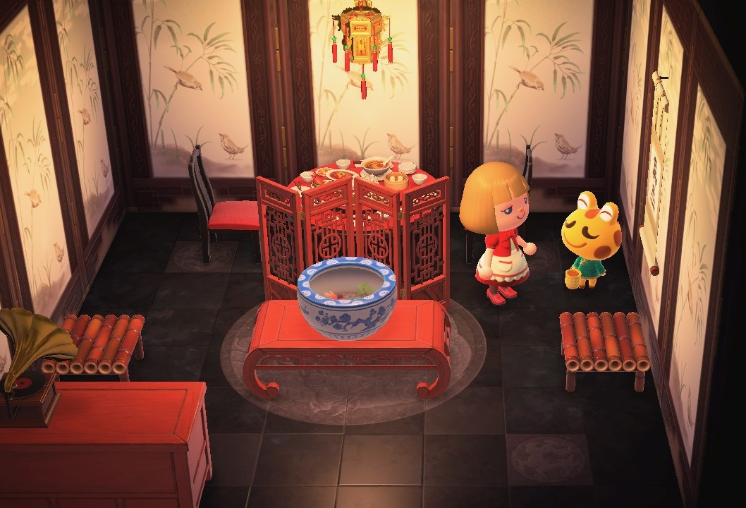 Interior of Cousteau's house in Animal Crossing: New Horizons