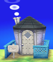 Exterior of Cube's house in Animal Crossing: New Leaf