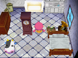 Interior of Tipper's house in Animal Crossing: Wild World