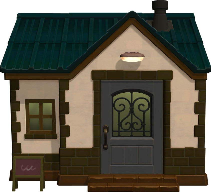 Exterior of Bella's house in Animal Crossing: New Horizons