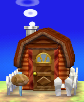 Exterior of Angus's house in Animal Crossing: New Leaf