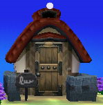 Exterior of Walt's house in Animal Crossing: New Leaf